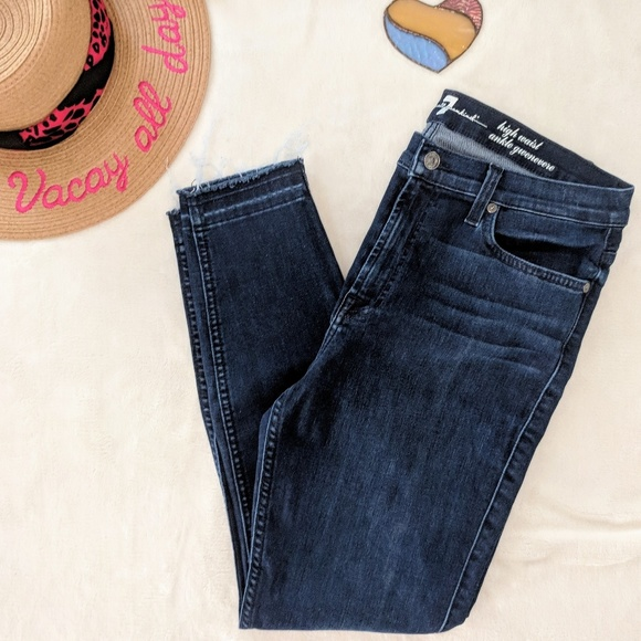 7 For All Mankind Denim - 7 For All Mankind High Waist Ankle Gwenevere 32